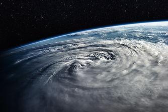 Typhoon over planet Earth - satellite ph