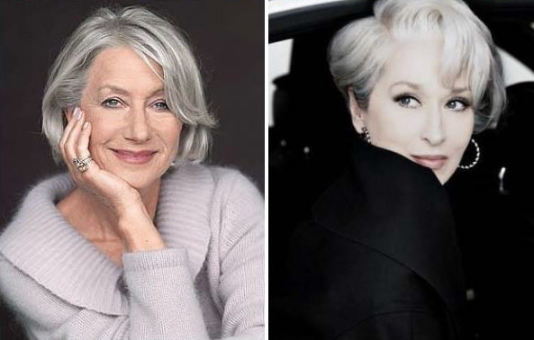 As grays Helen Mirren e Meryl Streep