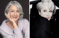 As grays Helen Mirren e Meryl Streep