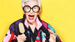 Iris Apfel anuncia sorvete Magnum