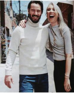 Keanu Reeves e Alexandra Grant