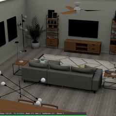 modern apartment layout