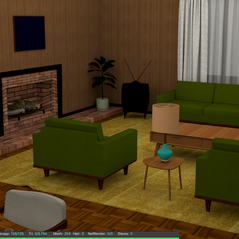 1969 style room rendered