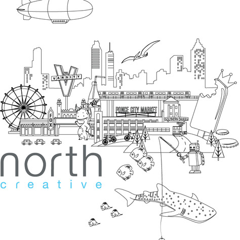 North Creative tshirt design