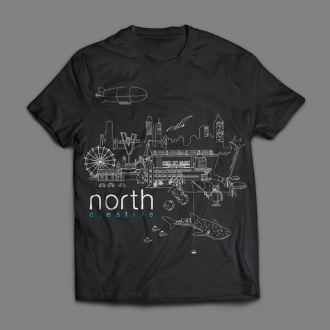 North Creative tshirt design mock-up
