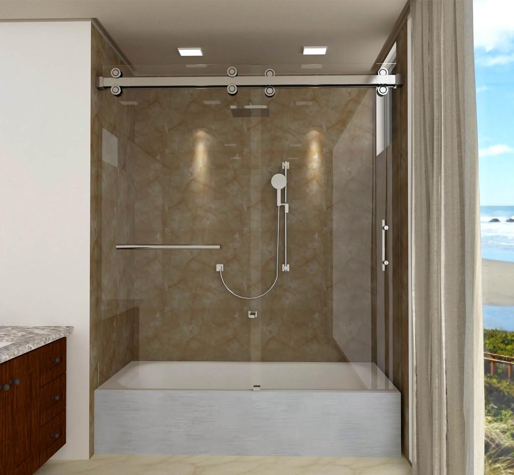 Isabella (tub height) - towel bar and ha