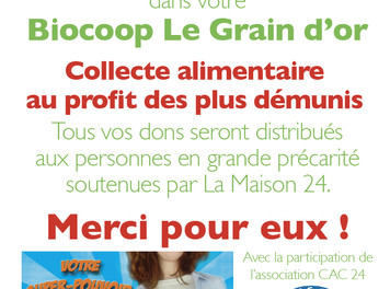 Collecte à la Biocoop Le Grain d'Or