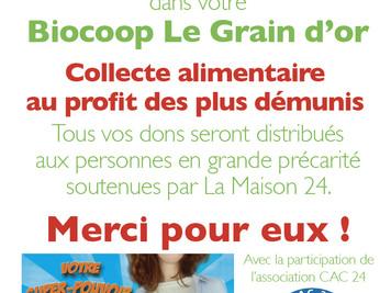 Collecte à la Biocoop Le Grain d'Or