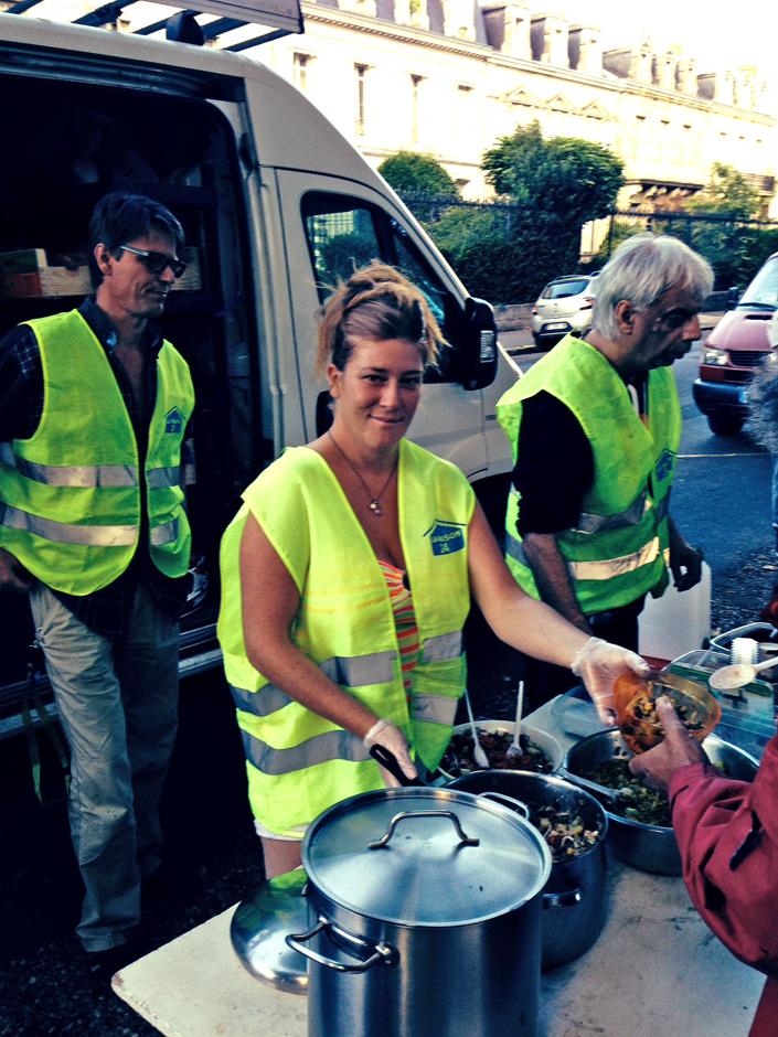 Distribution aux sans abris 2014