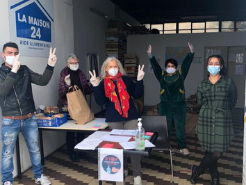 Pendant le confinement, LAMAISON24 continue ses distributions