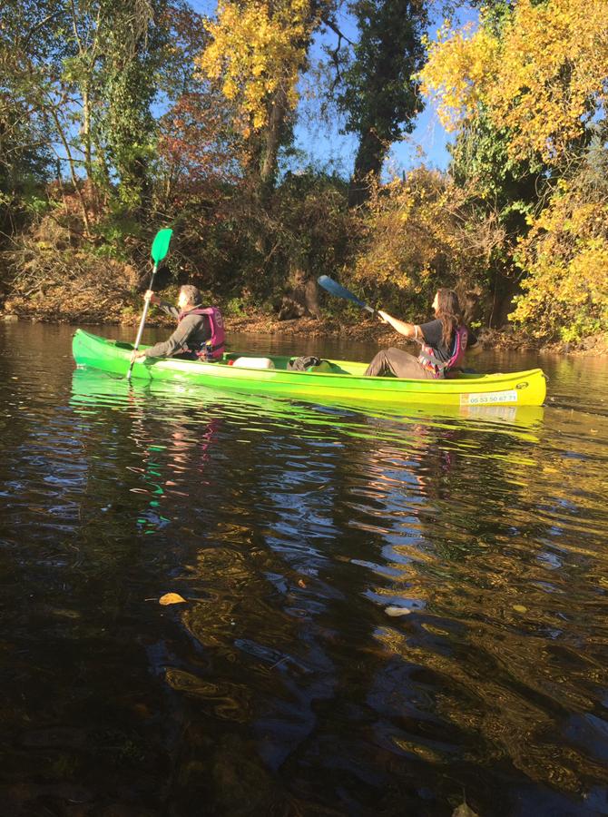 Sortie canoë en octobre