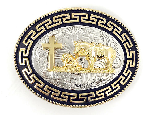 Texas West Western Cowboy/Cowgirl Texas Premium Oval Buckle Head