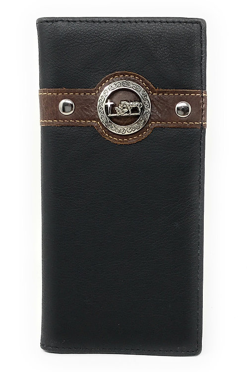 Texas West Men's Genuine Leather Cross Bifold Wallet in 3 Colors