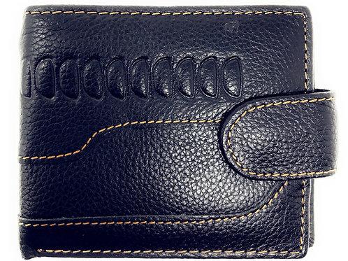 Western Mens Genuine Leather Bifold ID Credit Card Zip Wallet in Multi Color