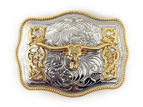 Texas West Western Cowboy/Cowgirl Texas Premium Rectangle Buckle Head