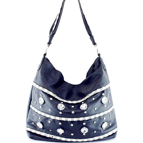 Premium Rhinestone Bling Bling Hobo Bag In Multi Color