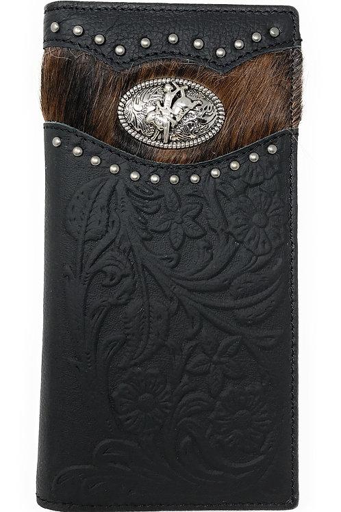 Premium Men's Cow Fur Cowhide Rodeo Genuine Leather Bifold Wallet in 2 colors
