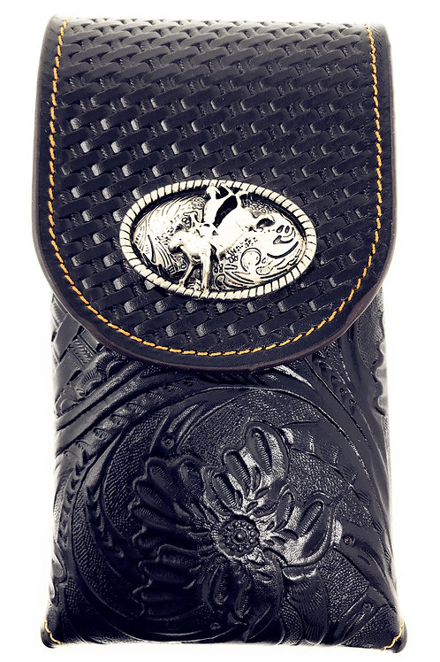 Cowboy Medium Size Genuine Leather Rodeo Galaxy iPhone Holster Cellphone Case