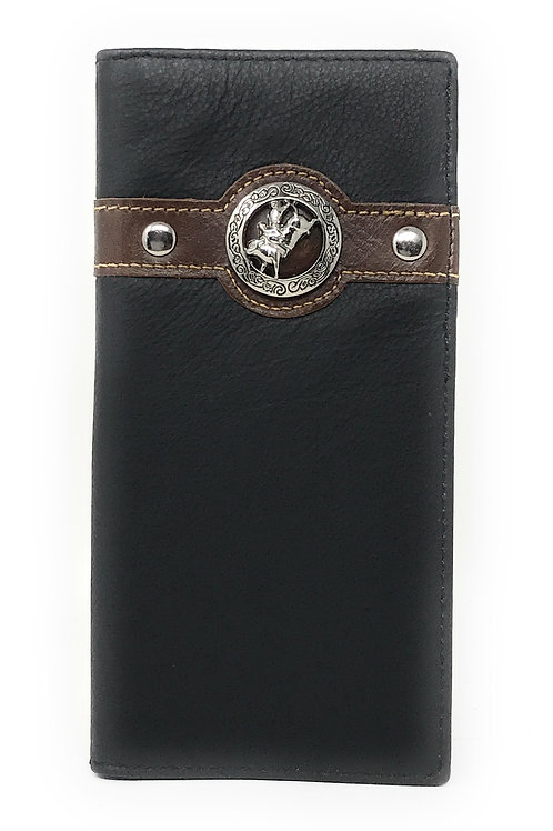 Texas West Men's Genuine Leather Rodeo Bifold Wallet in 3 Colors