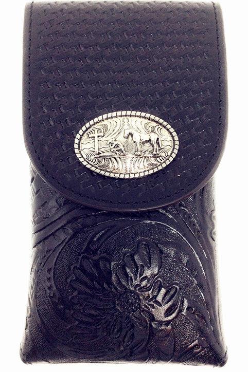 Cowboy Medium Genuine Leather Praying Cowboy Galaxy Iphone Holster Phone Case