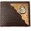 Thumbnail: Premium Genuine Leather Basketweave Cowhide Cow Fur Men's Short Bifold Wallet