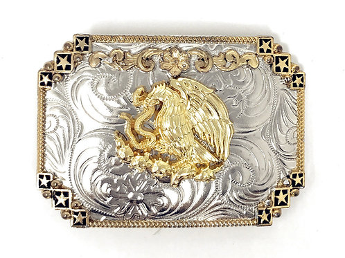 Texas West Western Cowboy/Cowgirl Texas Premium Rectangle Buckle Head