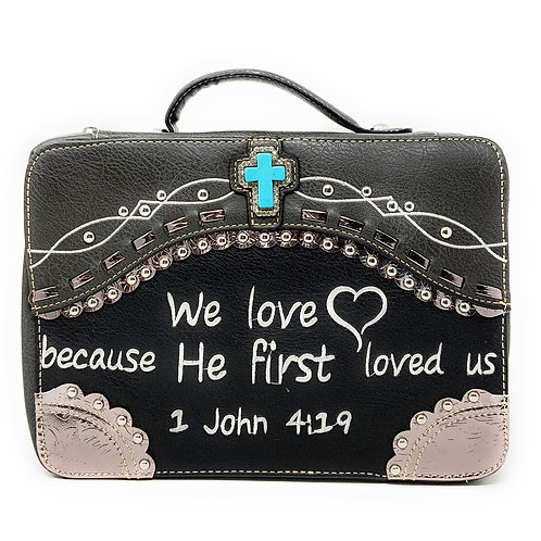 Texas West Embroidery Scripture Concealed Carry Bible Verse Rhinestone Cross