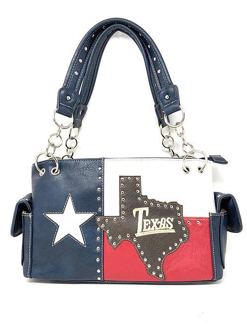 Texas West American Flag Rhinestone Women's Concealed Handbags Purse