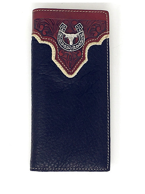 New Style Premium Leather Texas Longhorn Mens Wallet in 2 Colors