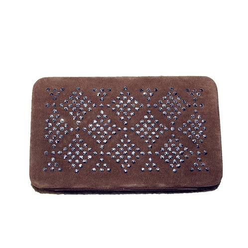 Rhinestone Womens Clip Wallet in 2 Colors With Fast Shipping & Extra Checkbook