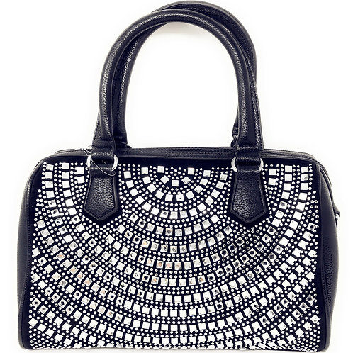 Rhinestone Studded Bling Bling Fashion Boston Bag In Multi Colors