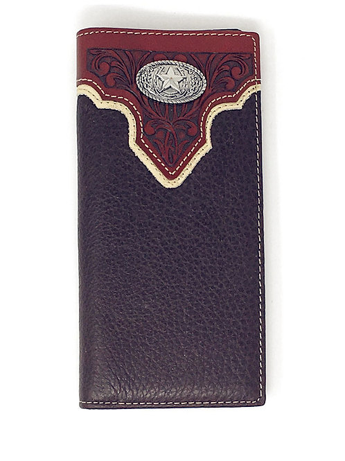 Premium Genuine Leather Lone Star Mens Bifold Wallet in 2 Colors
