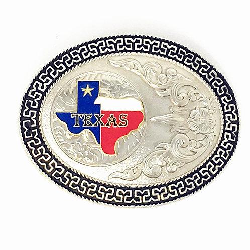 Texas West Western Cowboy/Cowgirl Texas State Map Premium Buckle Head