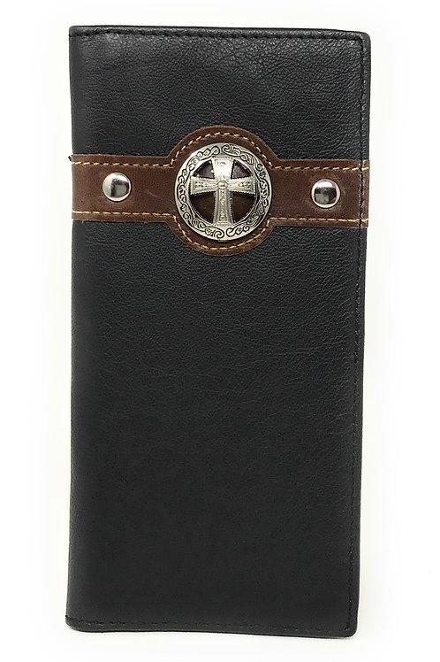 Texas West Men's Genuine Leather Cross Bifold Wallet in 3 Colors