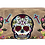 Thumbnail: Western Sugar Skull Womens Embroidery Flora Cross Double Zipper Wallet