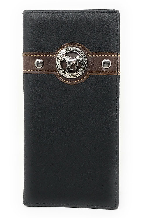 Texas West Men's Genuine Leather Horse Bifold Wallet in 3 Colors