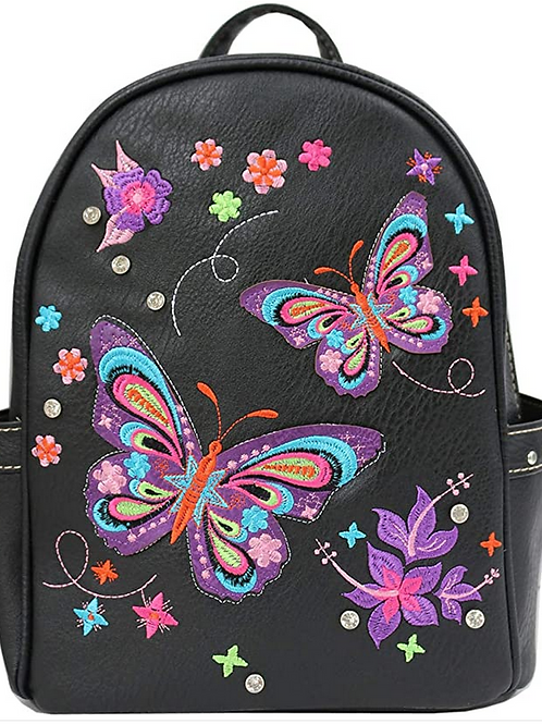 Western Women's Butterfly Floral Carry Top Handle Backpack in 3 colors