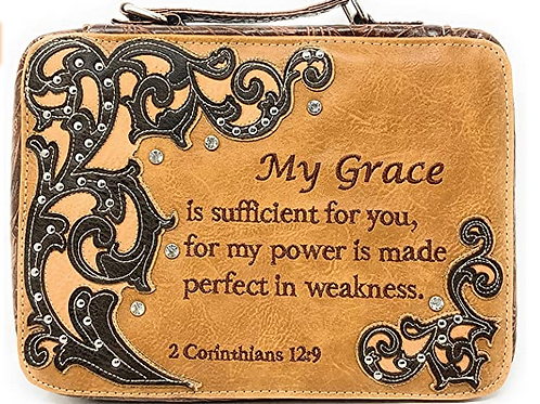 Western Style Embroidery Scripture Women Rhinestone Bible Cover Book Case Bag