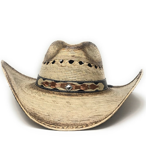 Texas West Men's & Women's Western Style Cowboy/Cowgirl Straw Hat