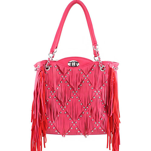 Western Fringe Womens Big Tote Handbag in 3 Colors with Fast Shipping