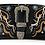 Thumbnail: Women's Tooled Leather/Laser Cut Purse Buckle Concealed Carry Handbag Set