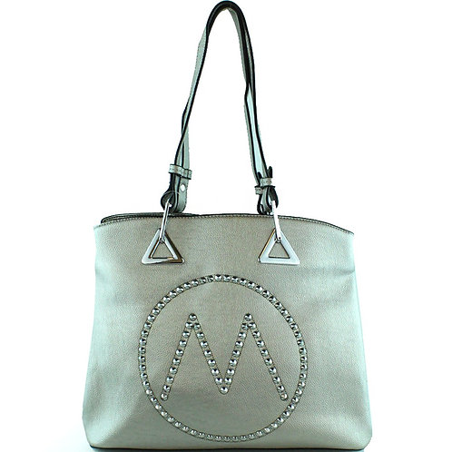 "Fashion""M"" Women's Concealed Carry Studded Tote Bag in 5 Colors"