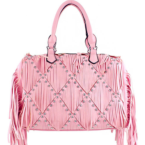Western Fringe Women's Big Tote Handbag in 3 Color