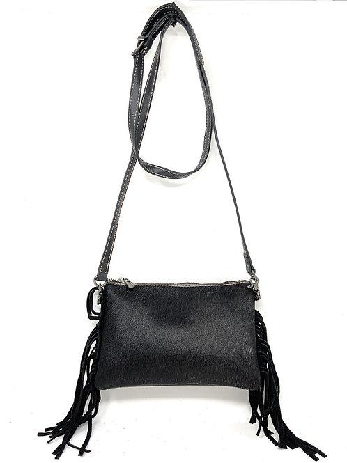 Genuine Leather Western Cowhide Womens Fringe Clutch Crossbody Bag in 3 Colors