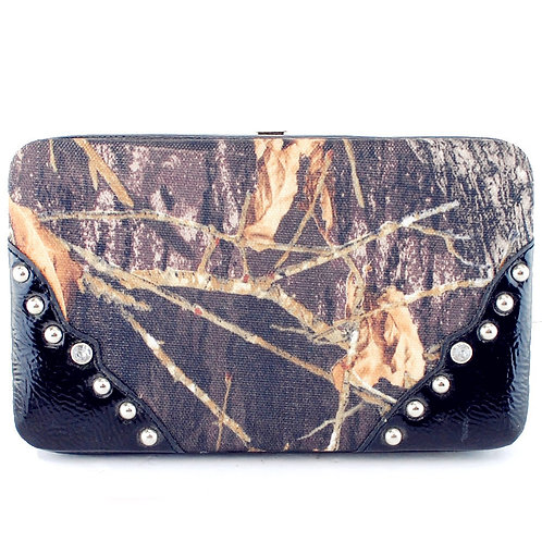 New Style Rhinestone Camouflage Plain Wallet In Multi Colors