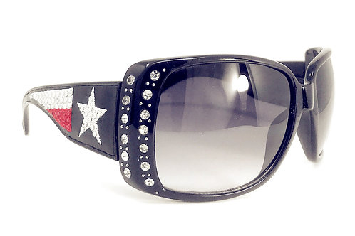 Texas Flag Lone Star Rhinestone Western Bling Womens Sunglasses