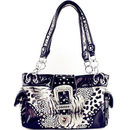 Texas West Leopard Buckle Concealed Carry Womens Handbag Purse