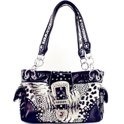 516a09a3155a Texas West Leopard Buckle Concealed Carry Womens Handbag Purse