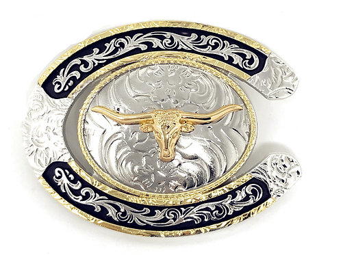 Texas West Western Cowboy/Cowgirl Texas Premium Round Buckle Head