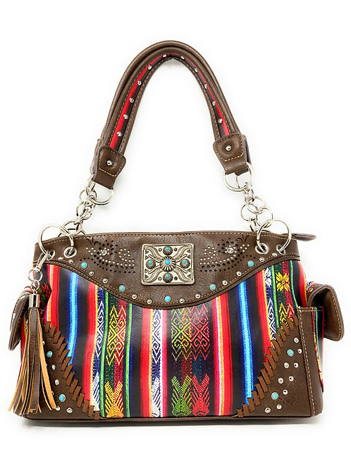 Premium Native Studded Concealed Carry Western Style Country Leather Handbag